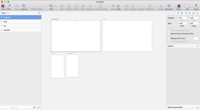 layout for device